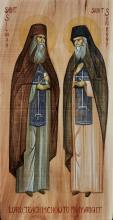 Icoana Sfinților Siluan și Sofronie